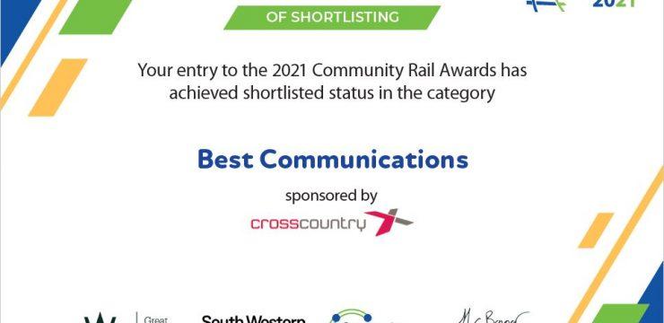 Nomination for Community Rail Award